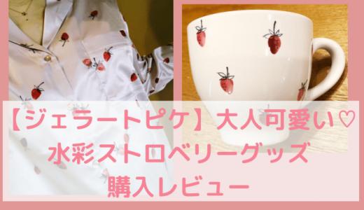 ジェラートピケの水彩ストロベリーグッズにキュン♡マグとサテンパジャマを購入!