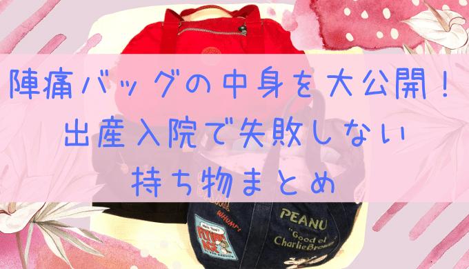 【出産入院のバッグの中身大公開♡】バッグの分け方と、コレを準備しとけば間違いない!