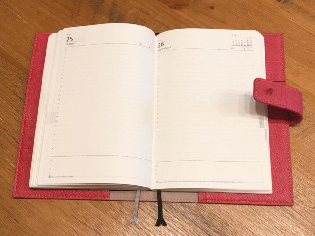 手帳のフォーマット